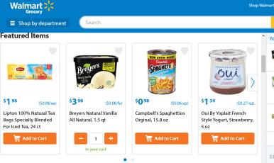 Walmart Grocery 网上下单送 off
