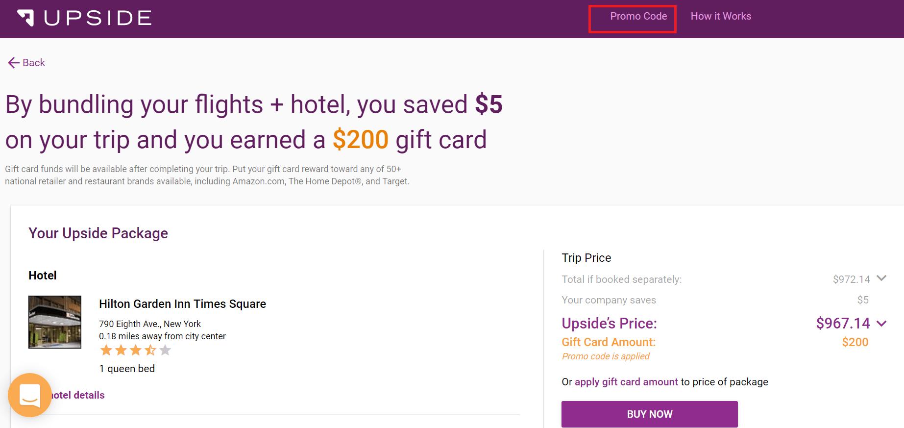 Upside.com 旅行预定网站介绍【首次预定送5】