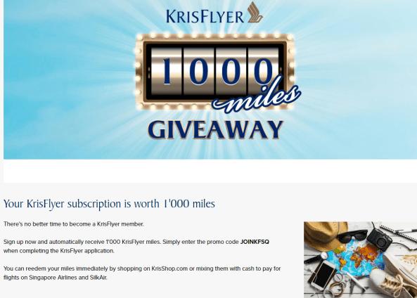 新加坡航空里程(Singapore Airlines KrisFlyer)介绍【1/31更新:注册会员免费送1000积分】