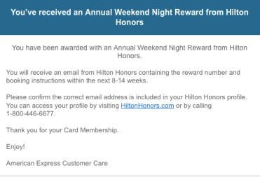 AMEX Hilton Aspire 信用卡【3/26更新:免房券第一年就送】