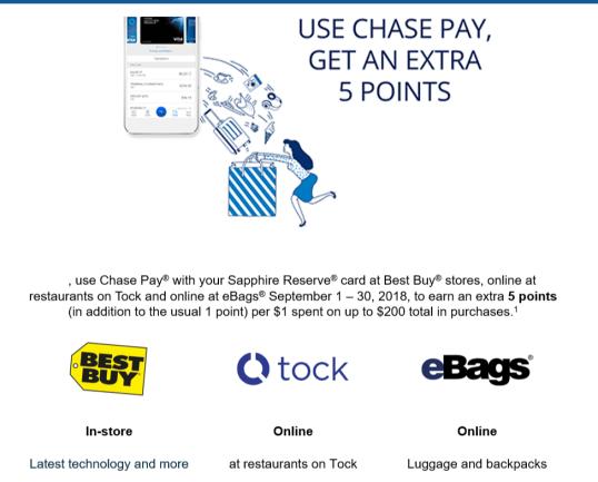 Chase Sapphire Reserve(CSR)信用卡【9/8更新:Bestbuy/tock/Ebags 5x积分】