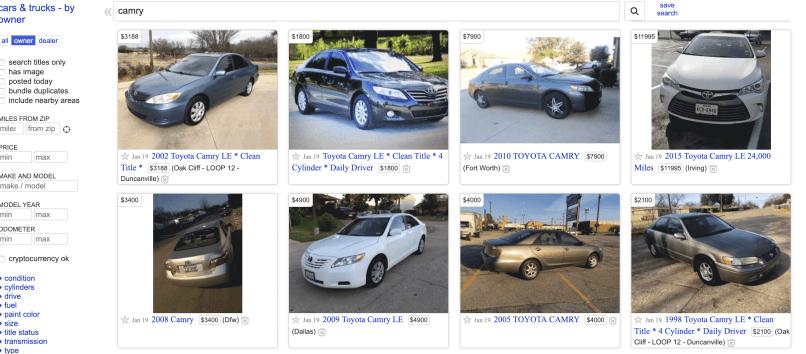 Craigslist 买二手车的经验分享