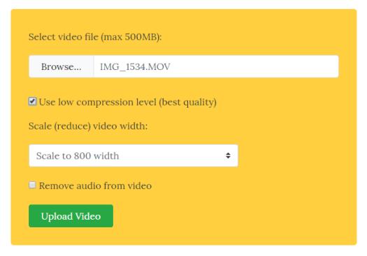 Compressing a video
