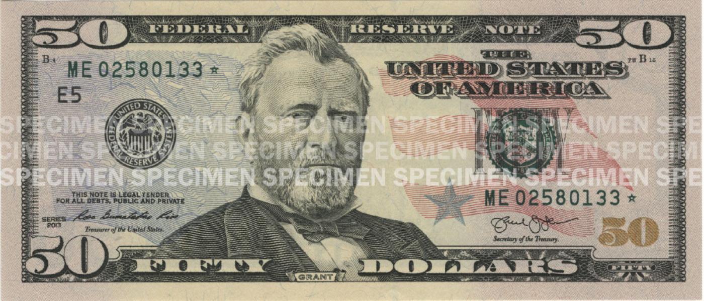 50 note u s currency education program