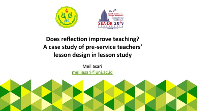 Does reflection improve lessons? A case study of pre-service teachers' lesson design in lesson study