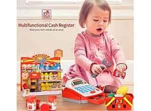 Geyiie Toy Cash Register for Kids
