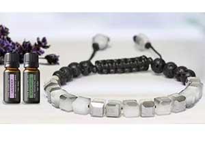 Lava Stone Glass Diffuser Bracelet w/Optional Essential Oils