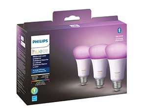 Philips Hue A19 Bluetooth LED Smart Bulbs 3Pcs