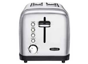 Bella Classics 2 Slice Wide Slot SS Toaster