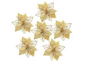 Christmas Tree Ornaments Artificial Flowers