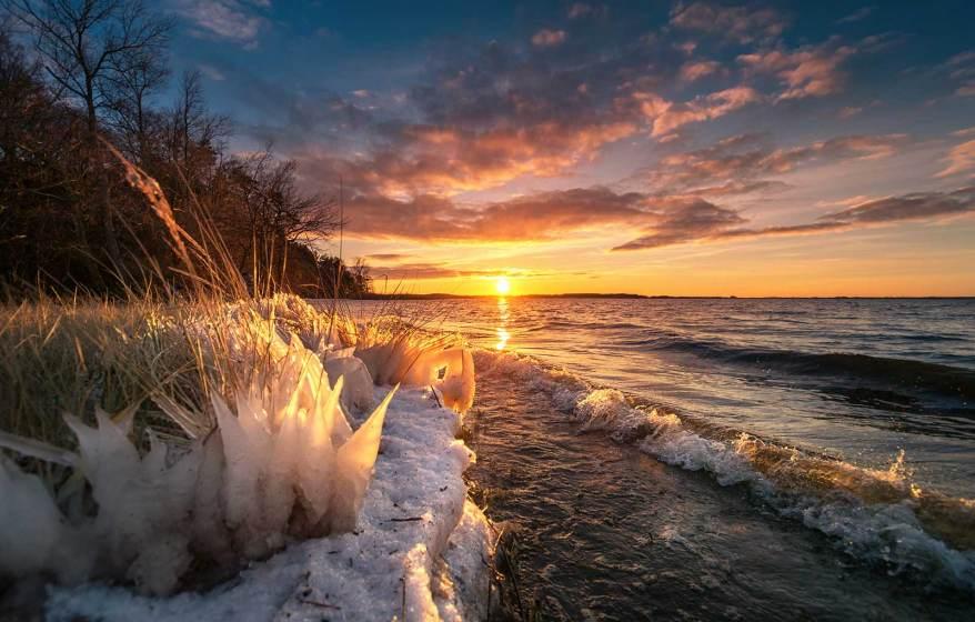 Winter am Achterwasser