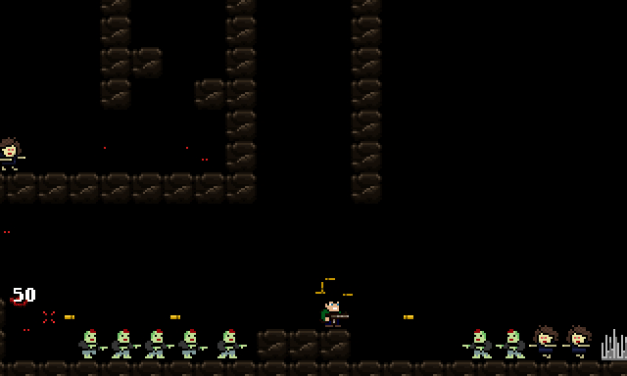 Blast zombies away together with local co-op retro style platformer ZombieRun