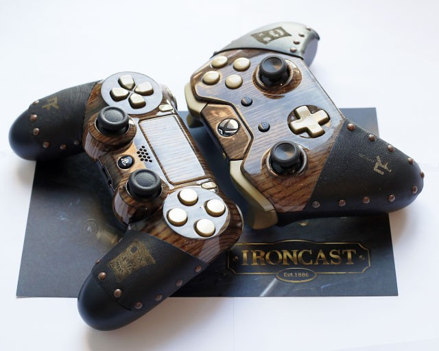 Win a steampunk Playstation 4 or Xbox One controller with Ironcast!