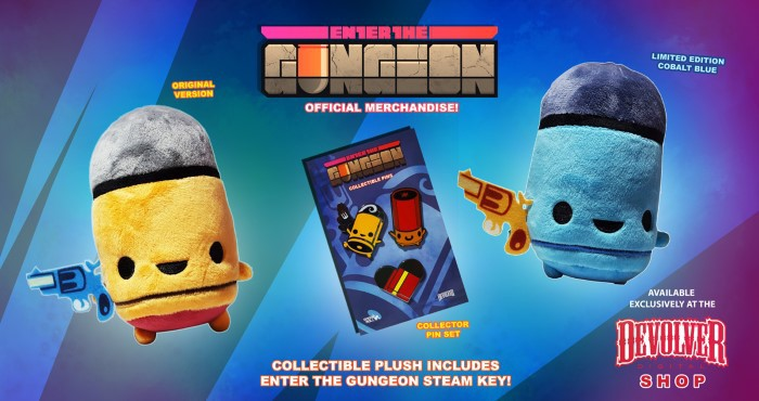 Pre-order Enter The Gungeon and get some adorable bullet plushies