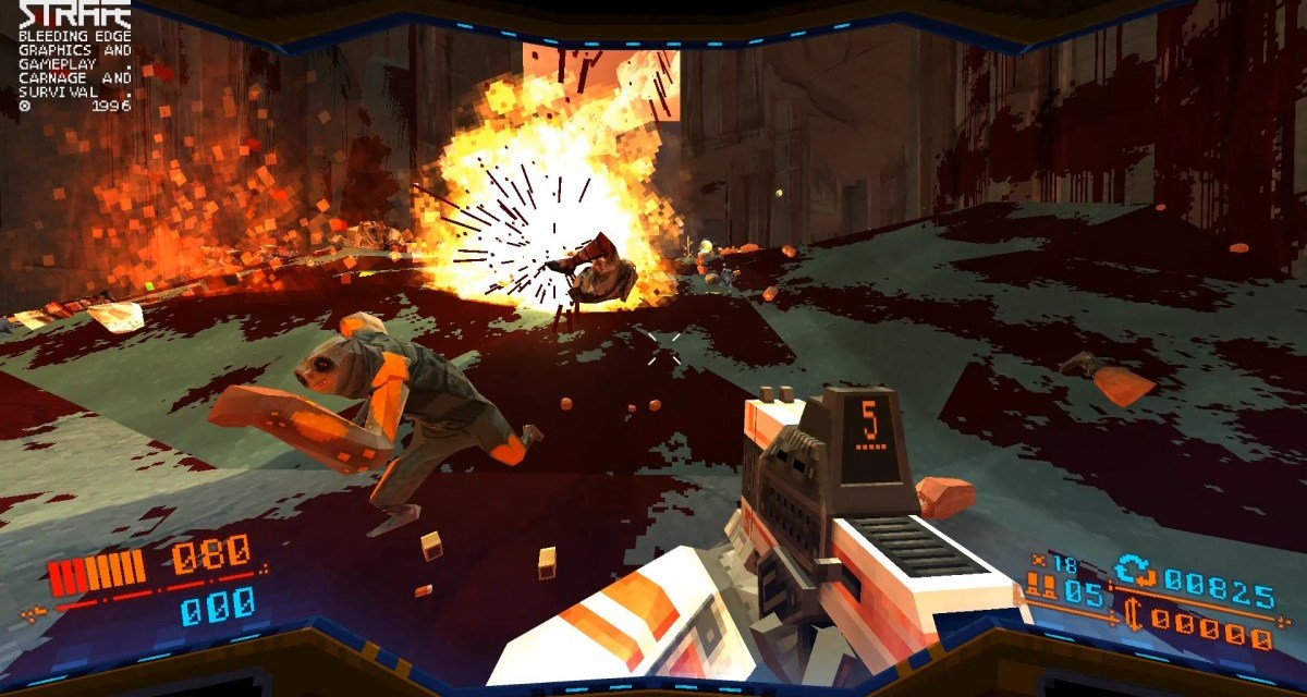 Rogue-like first person shooter (from 1996) STRAFE is now available on PS4 and PC