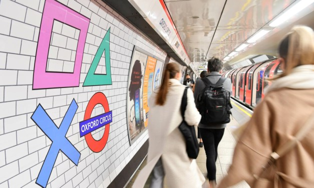 Oxford Circus gets a PlayStation-themed makeover to celebrate the UK's PlayStation 5 launch