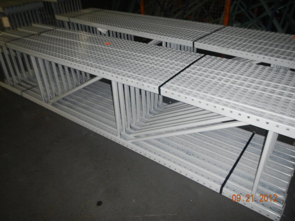 used pallet rack teardrop upright 28 x 12
