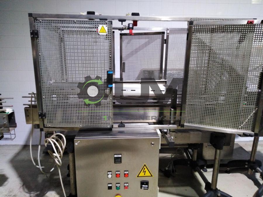 Αυτόματη μηχανή τοποθέτησης ταινίας ασφαλείας τύπου sleeve και tunnel θερμοσυρρίκνωσης