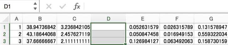 Excelの複数削除