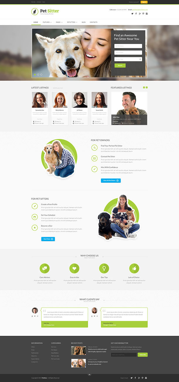 best job board wordpress themes useful blogging petsitter has been created for anyone building a job board website that will be focussing on publishing pet related employment opportunities
