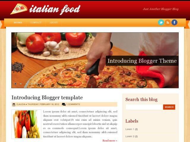 16 Best Food & Recipe Blogger Templates 2017 - Useful Blogging