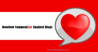 101 High PR Dofollow CommentLuv Enabled Blogs List 2017