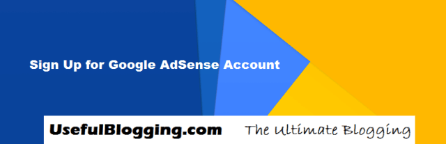 Sign Up for Google AdSense