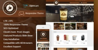 9 Best Food & Drinks Store OpenCart Themes 2017