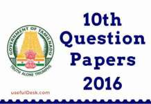 10th question papers 2016