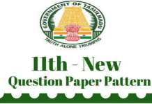 11th New Question Pattern 2017
