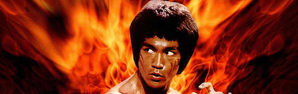Why were the Bruce Lee's movies slowed down?