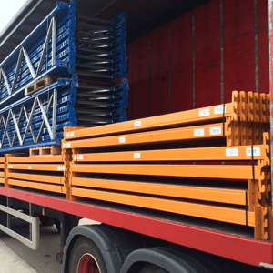 used-apex-industrial-pallet-racking, new and used pallet racking deliveries