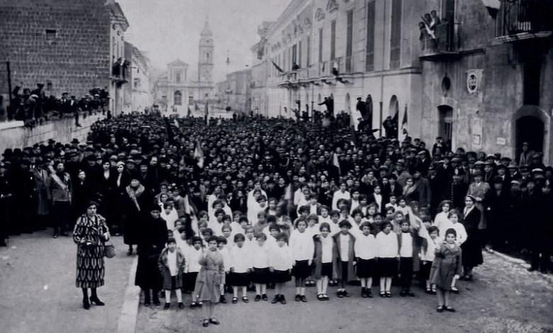 FOTO AIROLA MANIFESTAZIONE FASCISTA ANNI '30
