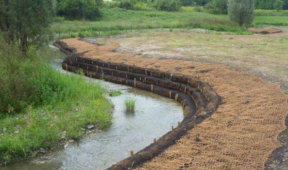 Coconut fiber irrigation