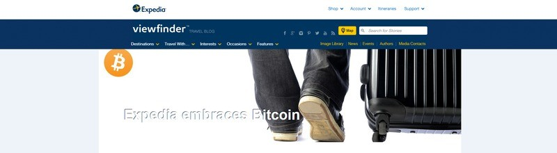 Even big companies can't resist bitcoin's influence, Expedia, an American travel company, begins accepting bitcoin