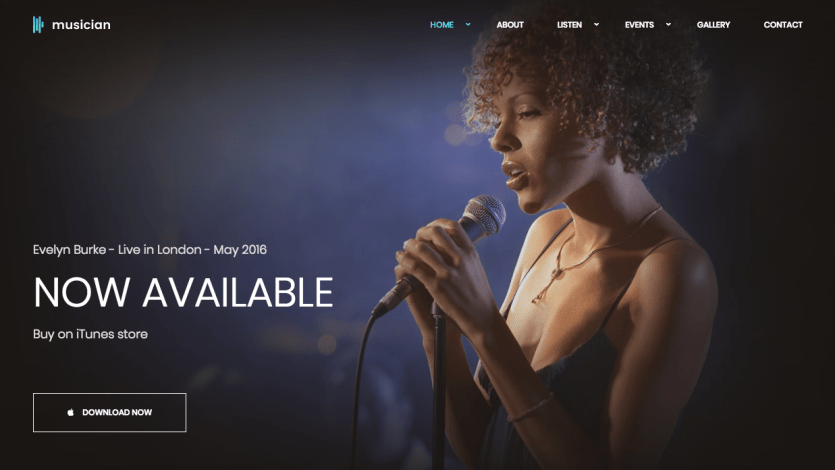 HTML5 Templates For Music Websites