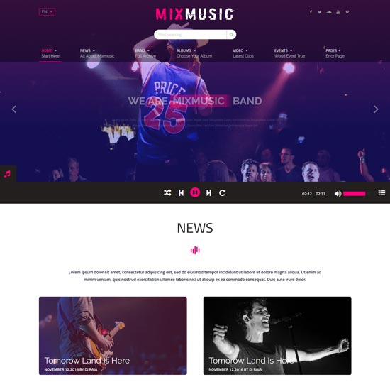 MixMusic Music template