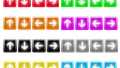 Collection of Arrow icons for websites