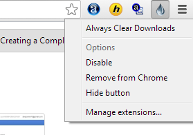 Auto Erase Download History in Google Chrome in Every 5 Seconds