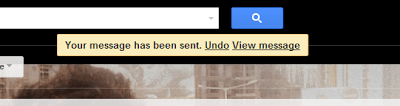 Undo a mail in Gmail