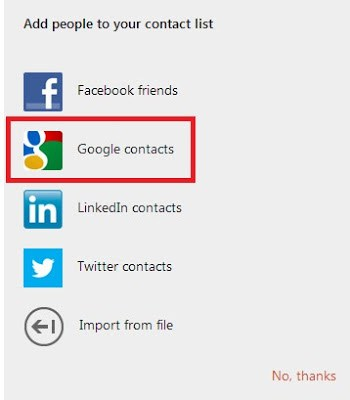 Import Gmail Contacts To Outlook.com