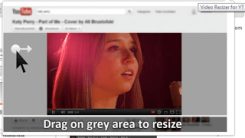 Drag and Resize YouTube Video Player to Any Size