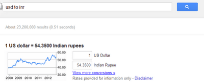 Use Google As Currency Converter tool