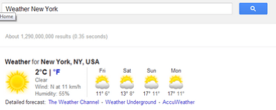 use Google as Weather tool