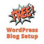 Free WordPress blog setup