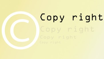 Add copyright notice to copy text