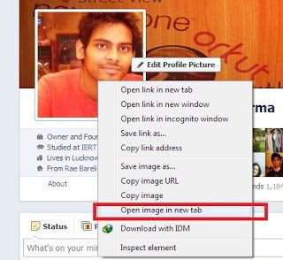 How You can See Full Size Profile Picture of a Locked Facebook Profile