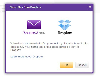 Dropbox connect with Yahoo