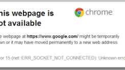 [Fix] chrome err_socket_not_connected problem while Opening Google, Gmail or other Google Services