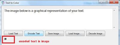 Hide Text In Image with Text To Color Encryption Tool